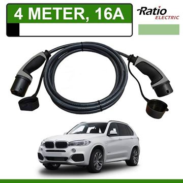 Laadkabel BMW x5 xDrive40e 4 meter 16A - Recht (Ratio)