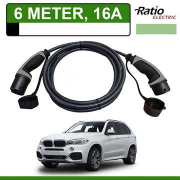 Laadkabel BMW x5 xDrive40e 6 meter 16A - Recht (Ratio)