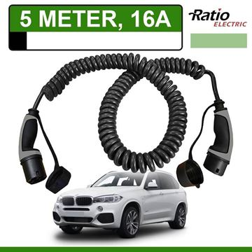 Laadkabel BMW x5 xDrive40e 5 meter 16A -  Spiraal (Ratio)