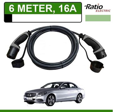 Laadkabel Mercedes C 350e Plug-In 6 meter 16A - Recht (Ratio)
