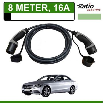 Laadkabel Mercedes C 350e Plug-In 8 meter 16A - Recht (Ratio)