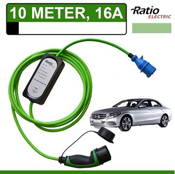 Thuislader Mercedes C 350e Plug-In 10 meter CEE