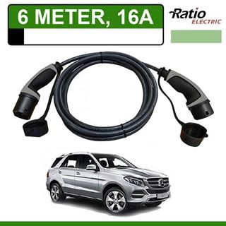 Laadkabel Mercedes GLE 500e Plug-In 6 meter 16A - Recht (Ratio)
