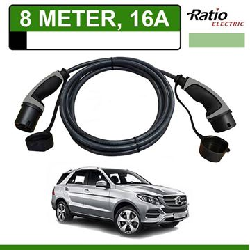 Laadkabel Mercedes GLE 500e Plug-In 8 meter 16A - Recht (Ratio)