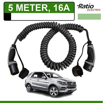 Laadkabel Mercedes GLE 500e Plug-In 5 meter 16A -  Spiraal (Ratio)