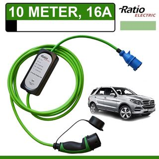 Thuislader Mercedes GLE 500e Plug-In 10 meter CEE