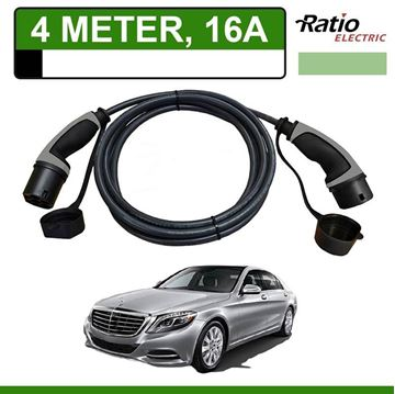 Laadkabel Mercedes S 500e Plug-In 4 meter 16A - Recht (Ratio)