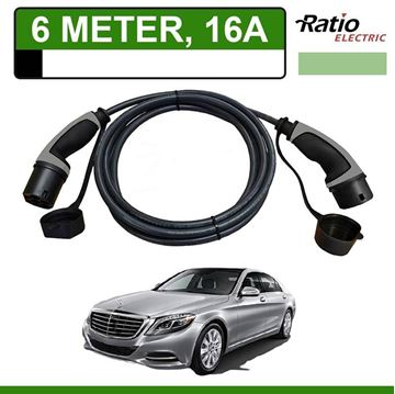 Laadkabel Mercedes S 500e Plug-In 6 meter 16A - Recht (Ratio)