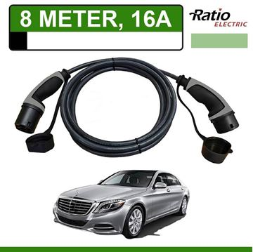 Laadkabel Mercedes S 500e Plug-In 8 meter 16A - Recht (Ratio)