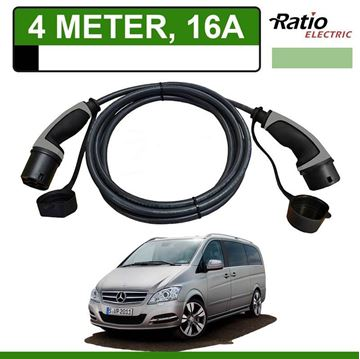 Laadkabel Mercedes Vito E-Cell 4 meter 16A - Recht (Ratio)