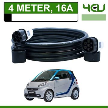 Laadkabel Smart Fortwo Electric Drive 4 meter 16A - Recht