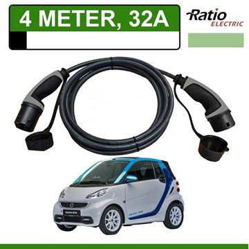 Laadkabel Smart Fortwo Electric Drive 4 meter 32A - Recht (Ratio)