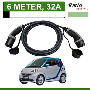 Laadkabel Smart Fortwo Electric Drive 6 meter 326A - Recht (Ratio)