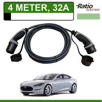 Laadkabel Tesla Model S 4 meter 32A - Recht (Ratio)