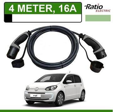 Laadkabel Volkswagen e-up 4 meter 16A - Recht (Ratio)