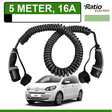 Laadkabel Volkswagen e-up 5 meter 16A -  Spiraal (Ratio)