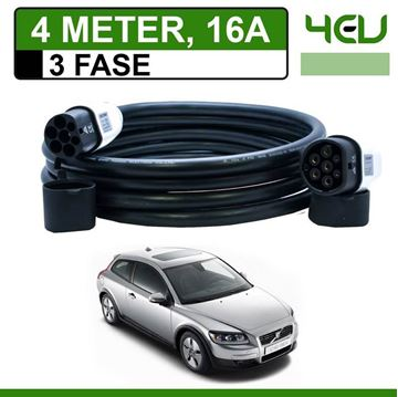 Laadkabel Volvo C30 Drive electric 4 meter 16A 3 fase - Recht