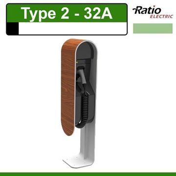 Evita 32A Laadstation Type 2 Wood