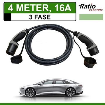 Ratio Laadkabel Lucid Air 4 meter 16A - Recht 3Fasen
