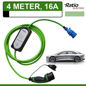 Ratio thuislader Lucid Air (4 meter CEE)