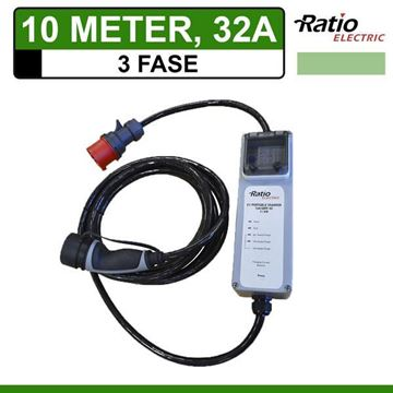 3-Fase Type 2 Thuislader 10 meter CEE 32A