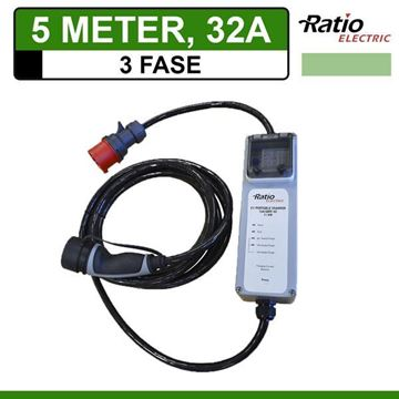 3-Fase Type 2 Thuislader 5 meter CEE 32A