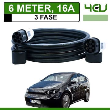 Laadkabel Sono Sion 6 meter 16A 3 fase - Recht