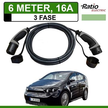Laadkabel Sono Sion 6 meter 16A 3 fase - Recht (Ratio)