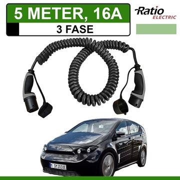 Laadkabel Sono Sion 5 meter 16A 3 fase - Spiraal (Ratio)