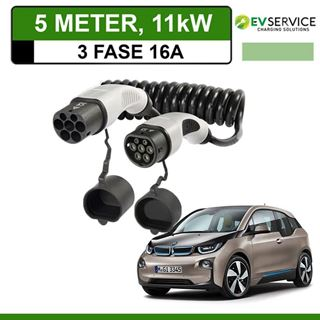 Laadkabel BMW i3 5 meter 16A 3-fase - Spiraal