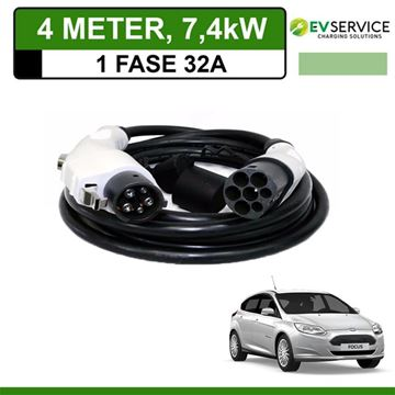 Laadkabel Ford Focus Electric 4 meter 32A - Recht