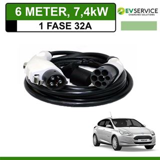 Laadkabel Ford Focus Electric 6 meter 32A - Recht
