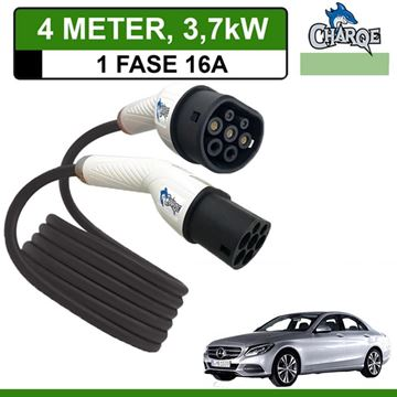 Premium Laadkabel Mercedes C 350e Plug-In Estate 4 meter 16A - Recht