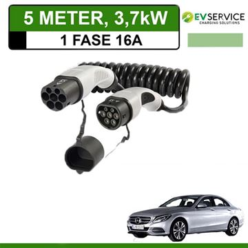 Laadkabel Mercedes C 350e Plug-In Estate 5 meter 16A - Spiraal