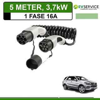 Laadkabel Mercedes GLE 500e Plug-In 5 meter 16A - Spiraal