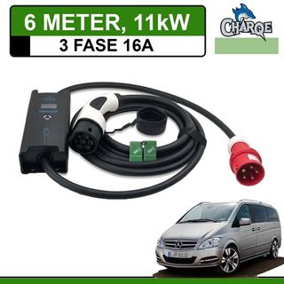 Mobiele lader Mercedes Vito E-Cell 6 meter 16A 3-fase