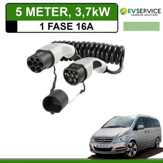 Laadkabel Mercedes Vito E-Cell 5 meter 16A - Spiraal