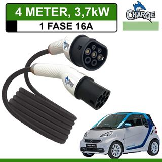 Premium Laadkabel Smart Fortwo Electric Drive 4 meter 16A - Recht