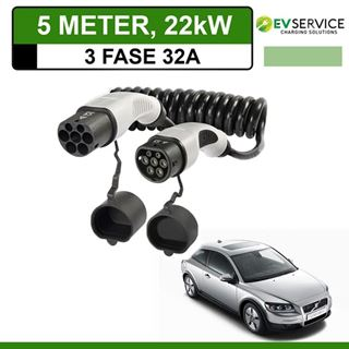 Laadkabel Volvo C30 Drive electric 5 meter 32A 3-fase - Spiraal