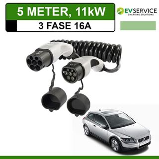Laadkabel Volvo C30 Drive electric 5 meter 16A 3-fase - Spiraal