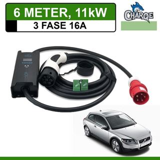 Mobiele lader Volvo C30 Drive electric 6 meter 16A 3-fase