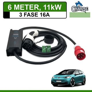 Mobiele lader Volkswagen ID3 6 meter 16A 3-fase