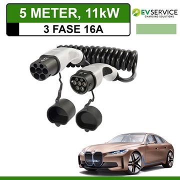 Laadkabel BMW i4 5 meter 16A 3-fase - Spiraal