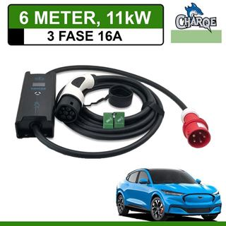 Mobiele lader Ford Mustang Mach-E 6 meter 16A 3-fase