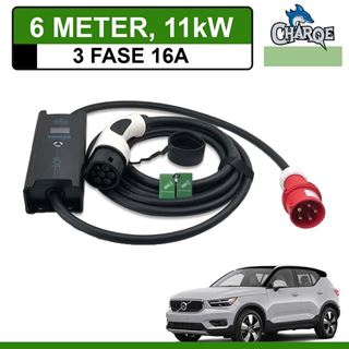 Mobiele lader Volvo XC40 6 meter 16A 3-fase