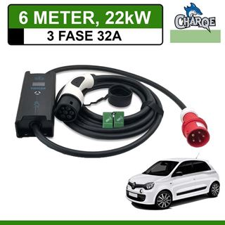Mobiele lader Renault Twingo Electric 6 meter 32A 3-fase