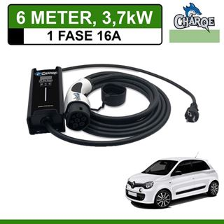 Mobiele lader Renault Twingo Electric 6 meter 16A