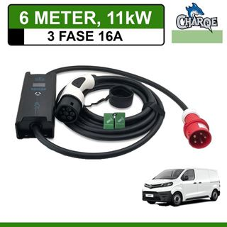 Mobiele lader Toyota PROACE 6 meter 16A 3-fase